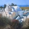 Chapels, Dia, Santorini, 24 x 24ins, (£1,200).